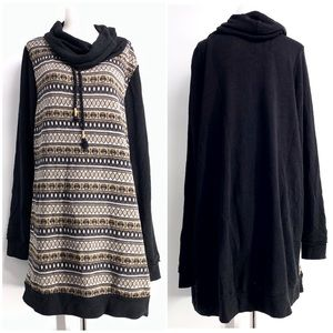 Maurices Plus Size 2 Cowl Neck Sweater Tunic Dress